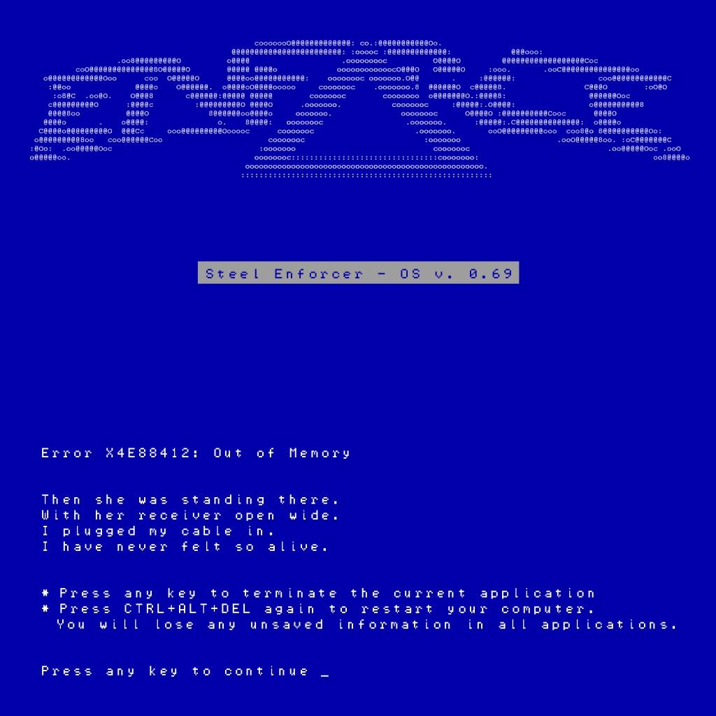 Error X4E88412 Out Of Memory (single)